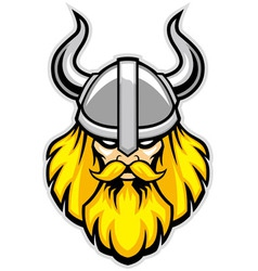 Viking warrior head mascot vector
