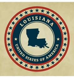 Vintage label Louisiana vector