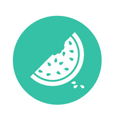 Watermelon icon juicy ripe fruit on white vector