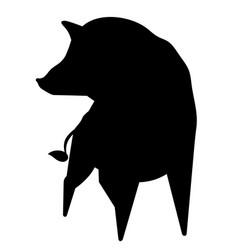 wild boar silhouette vector image