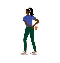 young african american woman suffering from low vector image