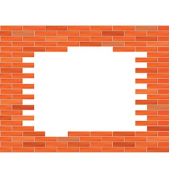 brick wall with big hole vector image