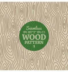Retro wood seamless background vector image