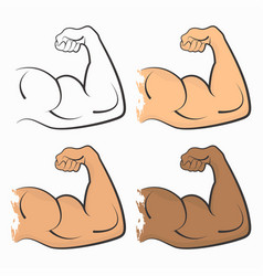 strong power muscle vector image vector image