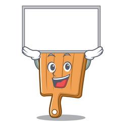 up kitchen board character cartoon vector image vector image