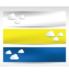 web headers clouds vector image