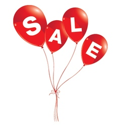 Balloons concept of SALE for shops and event Red vector image vector image