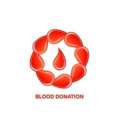 Blood donation logo vector
