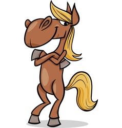 funny horse cartoon vector image
