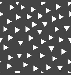 geometric pattern with white triangles seamless vector image vector image