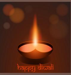 Happy diwali festival background greeting card vector