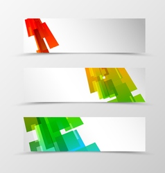 Set of header banner geometric design vector image vector image