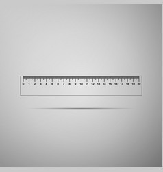 straightedge symbol ruler icon isolated vector image
