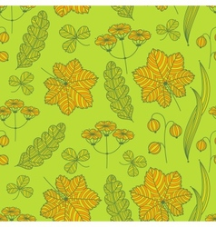 Summer grass pattern vector image