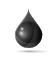 Black oil drop vector image