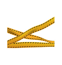 crime yellow tape vector image