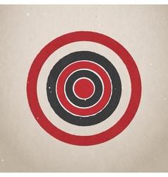 Paper target vector image vector image