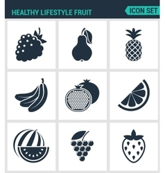 Set of modern icons Healthy lifestyle vector image