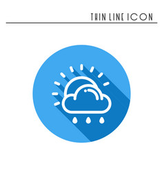 sun cloud rain line simple icon weather symbols vector image vector image