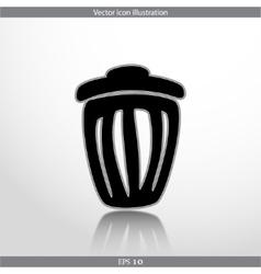 trash can web icon vector image