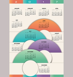 2017 calendar with circles vector image