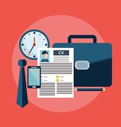 CV job search items flat modern design vector image vector image