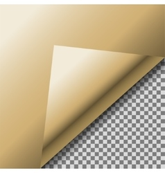 Folded up gold foil blank note paper vector image vector image