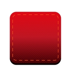 Red line button vector image