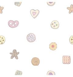 Seamless pattern of fancy cookies vector image