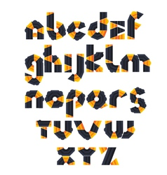1 alphabet mosaic vector