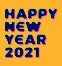 3d stylish greeting card on orange background vector image
