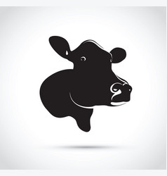 abstract black cow head vector image