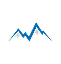 abstract pointy montain logo design vector image
