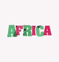 Africa concept stamped word art vector