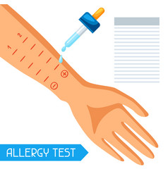 Allergy test for medical vector