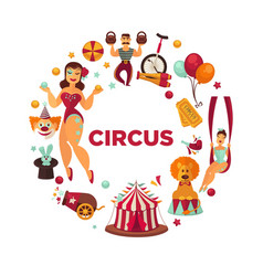 amazing show at famous great circus promo poster vector image