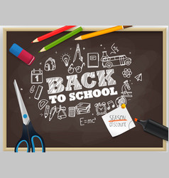 back to school season discount vector image