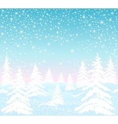 Background with winter forest vector
