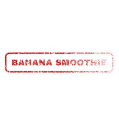 Banana smoothie rubber stamp vector