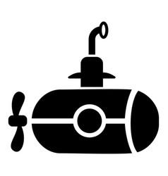 bathyscaphe with screw icon simple style vector image