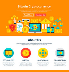 bitcoin cryptocurrency web design vector image