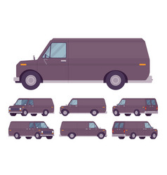 black van set vector image
