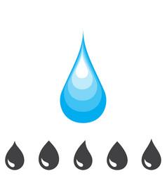 Blue drop icon vector