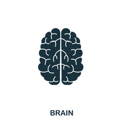 brain icon line style icon design ui vector image