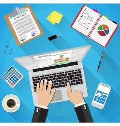 Businessman Workplace Desk vector image