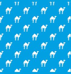 Camel pattern seamless blue vector