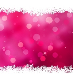 Christmas pink background with snow flakes EPS 10 vector