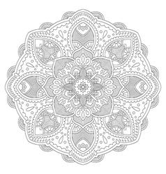 Circle mandala pattern vector image