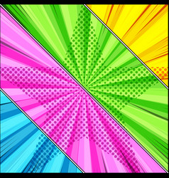 comic starry abstract concept vector image