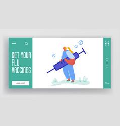 Concept virus flu disease website doctor with vector